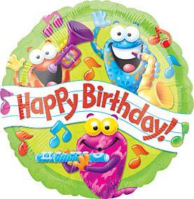 "17"" Trend Frog-tastic Happy Birthday"
