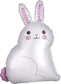 """22"""" White Satin Bunny"""