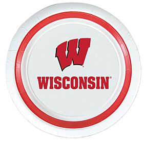 "University of Wisconsin - 9"" Paper Plate 10Ct"