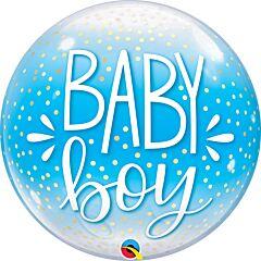 "22"" Baby Boy and Confetti Dots Bubble"