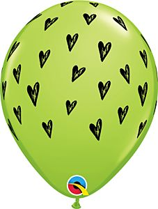 "11"" Prickly Heart Seeds Lime Green Latex"