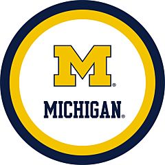 "University of Michigan - 7"" Paper Plate 12ct"