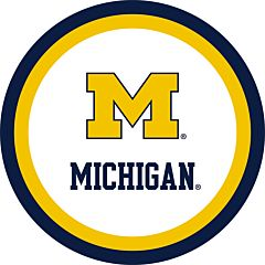 "University of Michigan 9"" Paper Plate 10ct"