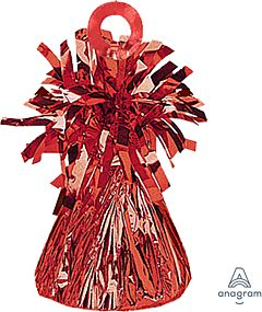 150 Gram Fringed Foil Weight - Red