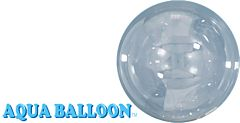 "9"" Aqua Balloon Clear"