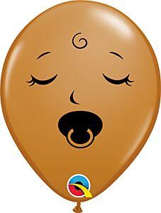 "5"" Pacifier Baby Face Mocha"