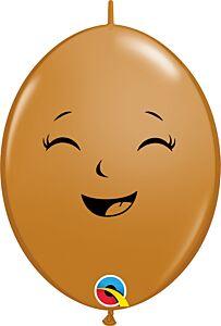 "6"" Qlink Happy and Sad Face Latex"