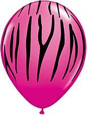 "11"" Zebra Print Wild Berry Black"