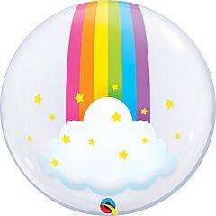"""24"""" Rainbow Clouds Deco Bubble"""