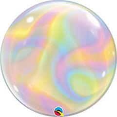 "22"" Iridescent Swirls Bubble"