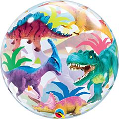 "22"" Colorful Dinosaurs Bubble"