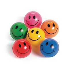 Smile Face Bounce Ball 12ct