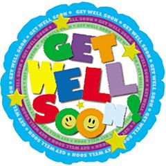 "4"" Get Well Colorful Type"
