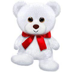 "6"" White Cubby Bear Plush"