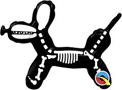 "14"" Balloon Dog Skeleton"