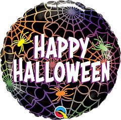 """18"""" Halloween Spiders and Webs"""