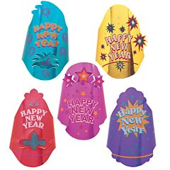 New Year Foil Printed Hat Assortment