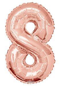 """34"""" Rose Gold Number 8"""