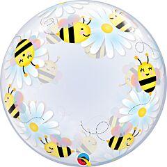 "24"" Sweet Bee & Daisies Deco Bubble"