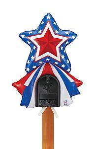 "33"" Patriotic Star Mailbox Balloon"