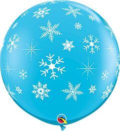 "36"" Qualatex Snowflake/Sparkle-A-Round Latex"