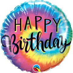 "18"" Birthday Tie Dye Swirls"