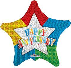 "4"" Anniversary Pattern Star"