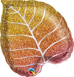 "21"" Fall Glittergraphic Ombre Leaf"