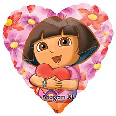 "18"" Dora the Explorer Hearts"