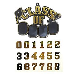 """2.5"""" Class Of Charm - Black & Gold with Stickers"""