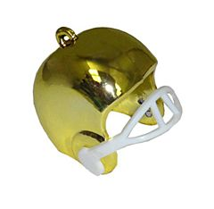 "1"" Football Helmet Charm - Gold - 3ct"