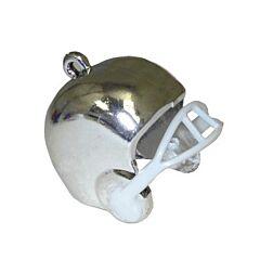 "1"" Football Helmet Charm - Silver - 3ct"