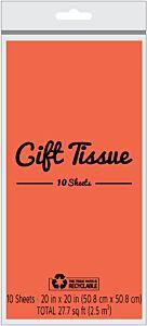 Tissue Paper - Orange 10 ct