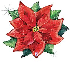 "34"" Water Color Poinsettia"