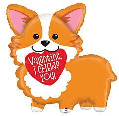 """35"""" Valentine Corgi"""