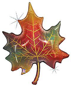 """35"""" Glitter Fall Leaf"""