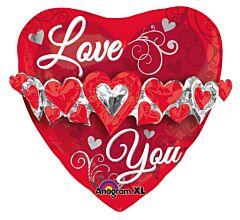 """23"""" Love You Heart Garland"""