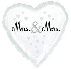 "18"" Mrs And Mrs Wedding"