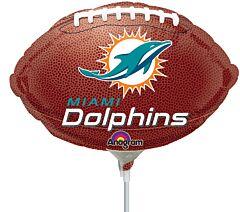 """9"""" Miami Dolphins Footbal"""