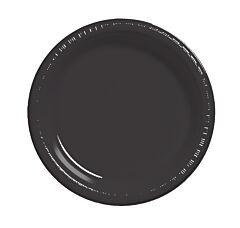 """9"""" Plastic Plate - Black 12/50"""