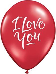 "11"" Qualatex I Love You Script Latex"