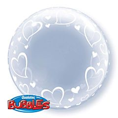 "24"" Stylish Hearts Deco Bubble"
