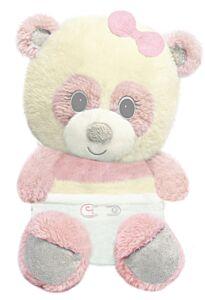 """7"""" Sitting Pink Panda Bear"""