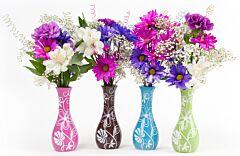 "2.75"" x 6.5"" Bright Flower Vase Assortment"