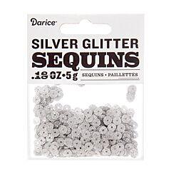 0.18 oz Glitter Sequin - Silver