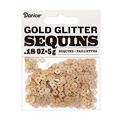 0.18 oz Glitter Sequin - Gold