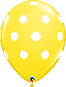 "11"" Big Polka Dots Latex - Yellow"