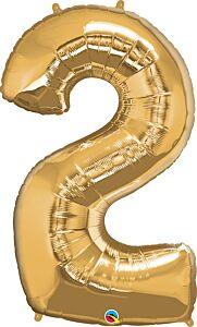 "34"" Qualatex Number 2 Gold"