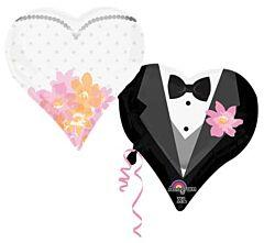 """30"""" Wedding Couple Hearts"""
