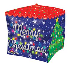 "15"" Merry Christmas Lights Cubez"